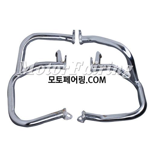 골드윙/튜닝파츠/Left & Right Chrome Engine Case Guards Bars For Honda GOLDWING GL1800 01-11 NEW 95