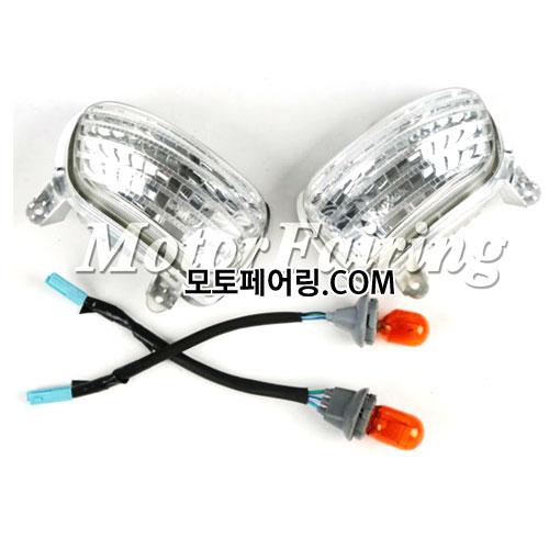 골드윙/튜닝파츠/Clear Front Side Turn Signal Lights For Honda Goldwing GL1800 2001-2013 NEW 25