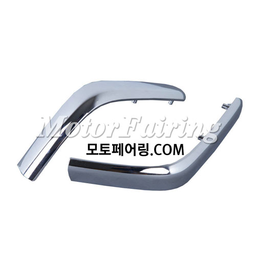 골드윙/튜닝파츠/Chrome Saddlebag Decoration Strips Moulding For Honda GOLDWING GL1800 01-11 NEW 45