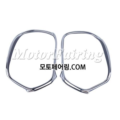 골드윙/튜닝파츠/Chrome Rear View Side Mirrors Trim Decoration For Honda GOLDWING GL1800 01-11 50