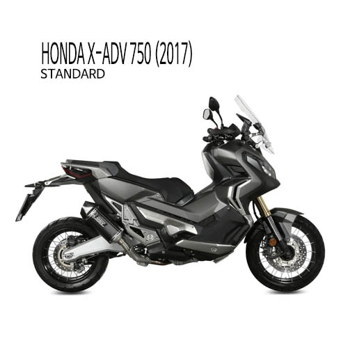 미브 머플러 HONDA X-ADV750 (2017) SPEED EDGE BLACK INOX NERO 슬립온