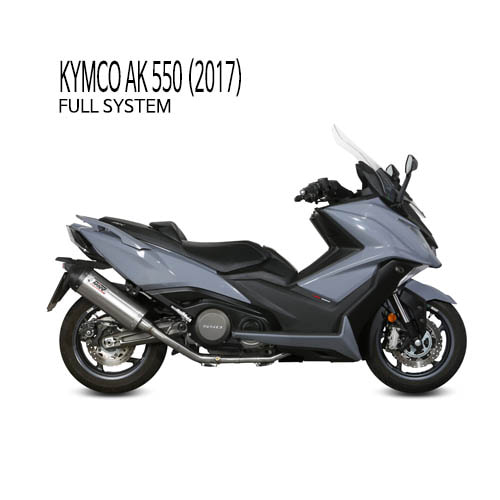 미브 머플러 KYMCO AK 550 (2017) OVAL TITANIUM WITH CARBON CAP 풀시스템