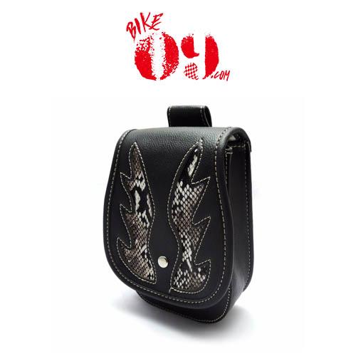 할리 Luggage Rack Bag Waist Bag PU Leather Saddlebag Side Tool Bag