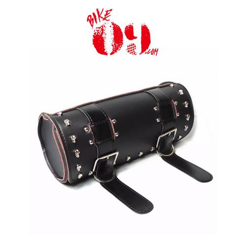 할리 Scooter Tool Bag PU Leather Saddle Bag Forks Handlebar Bags