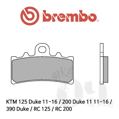 KTM 125 Duke 11-16 / 200 Duke 11 11-16 / 390 Duke / RC 125 / RC 200 / 브레이크패드 브렘보 신터드 레이싱