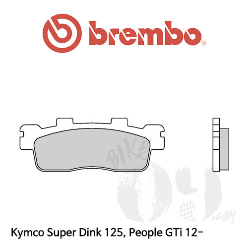 Kymco Super Dink 125, People GTi 12- (1 couple for 1 disk) 프론트 리어겸용 브렘보 브레이크패드