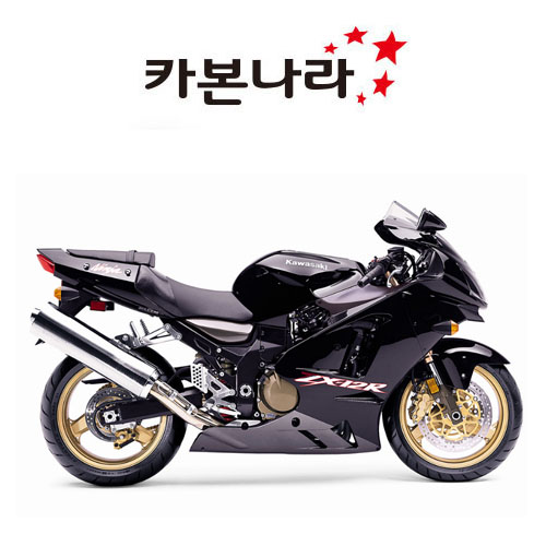 Kawasaki ZX12 Heel Guards 오토바이 카본