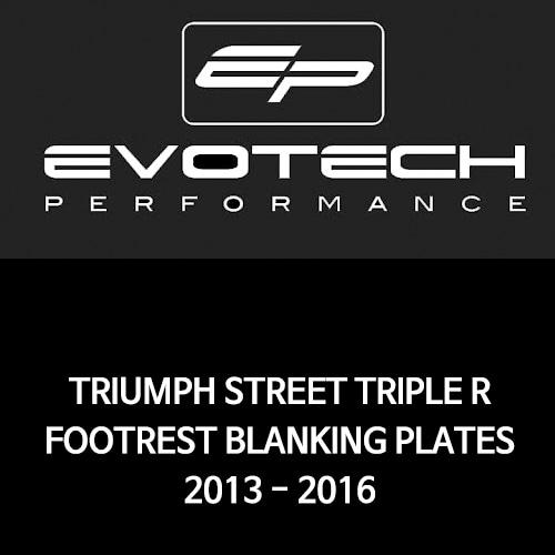 트라이엄프 STREET TRIPLE R FOOTREST BLANKING PLATES 2013-2016 에보텍