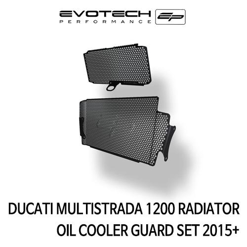 두카티 멀티스트라다1200 RADIATOR 오일쿨러가드 SET 2015+ 에보텍