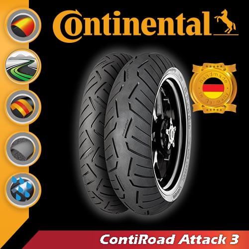 [콘티넨탈 오토바이 타이어]콘티로드어택3/ContiRoad ATTACK3 190/55 ZR 17 M/C (75 W) TL 02 44 505