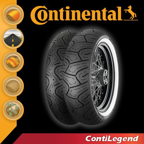 [콘티넨탈 오토바이 타이어]콘티레전드/ContiLegend 140/90 - 16 M/C 71 H TL 02 40 306