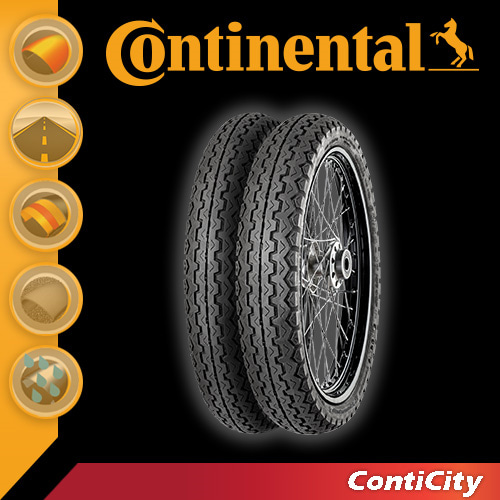 [콘티넨탈 오토바이 타이어]콘티시티/ContiCity 2.75 - 17 M/C 47 P Reinf. TT 02 00 114