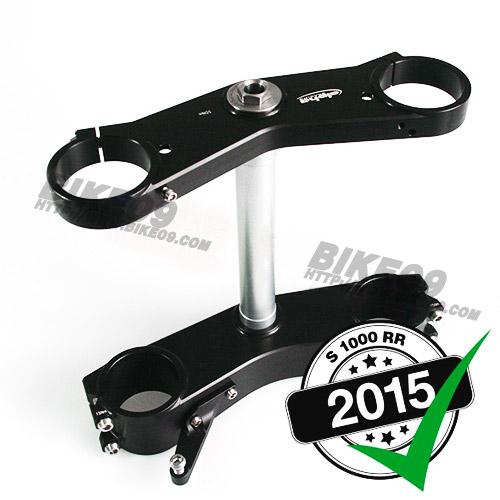 [S1000RR] WSBK OEM forks, black alpha Racing triple clamps