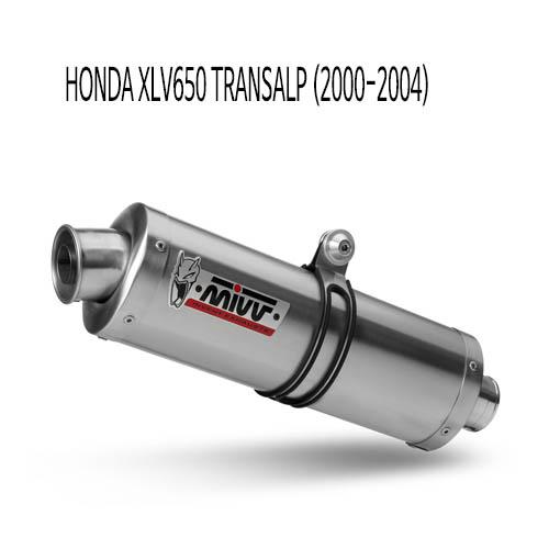 미브 XLV650 트랜스앨프 OVAL 스틸 슬립온 (00-04) 머플러 혼다