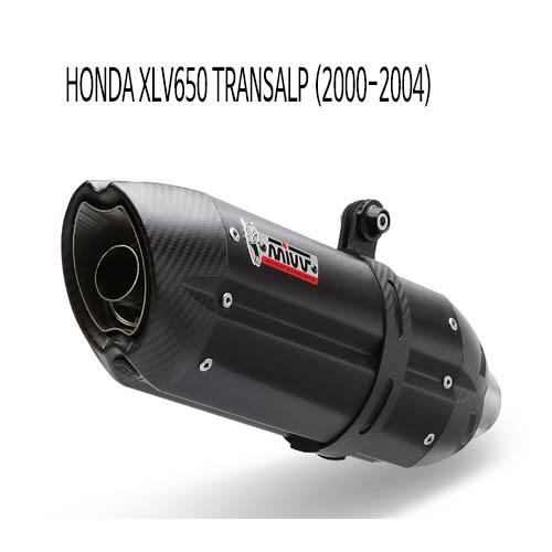 미브 XLV650 트랜스앨프 BLACK 스틸 슬립온 (00-04) 수오노 머플러 혼다