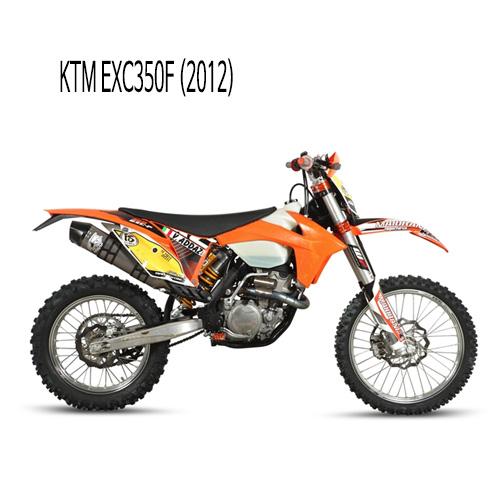 미브 EXC350F (2012) 머플러 KTM 오벌 스틸 풀시스템