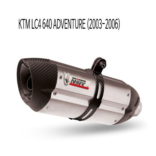 미브 LC4 640 어드벤처 (2003-2006) 수오노 스틸 슬립온 머플러 KTM