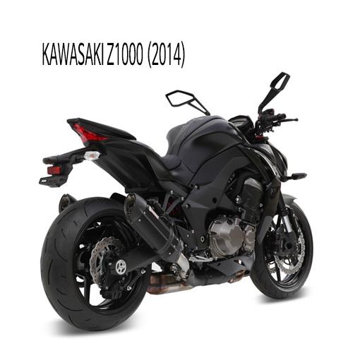 미브 Z1000 (블랙) 수오노 스틸 슬립온 머플러 가와사키 (2014)