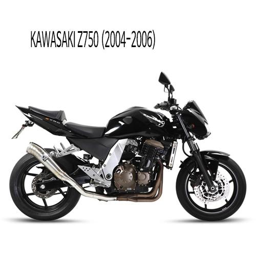 미브 Z750 (04-06) GHIBLI 스틸 슬립온 머플러 가와사키