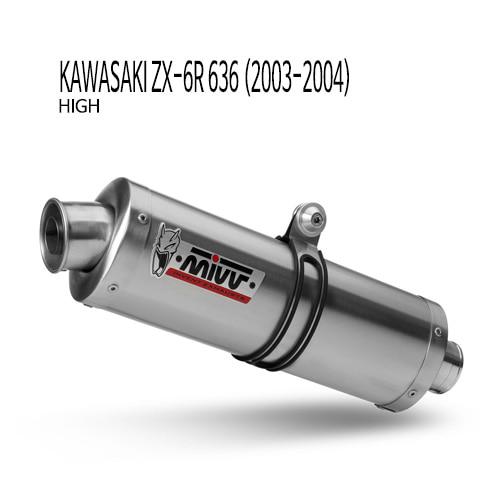 미브 ZX-6R 636 03-04년식 오벌 스틸 (high) 슬립온 가와사키 머플러