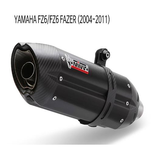 미브 FZ6/FZ6페이져 (2004-2011) 수오노 블랙 스틸 슬립온 머플러 야마하