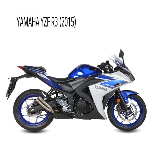 미브 YZF R3 더블건 티탄 슬립온 야마하 (2015) 머플러