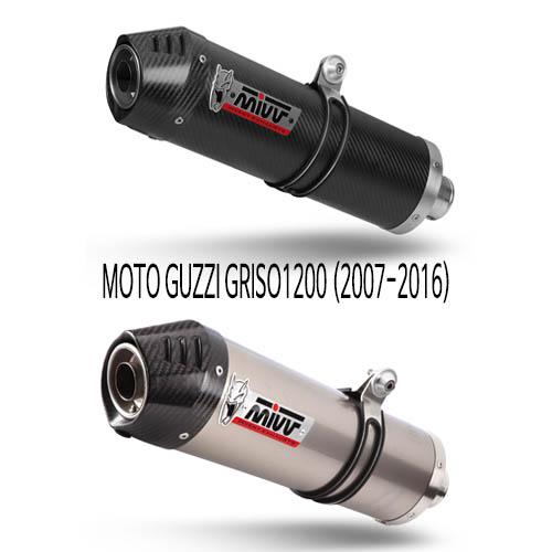미브 GRISO1200 (07-16) 오벌 슬립온 머플러 모토 구찌