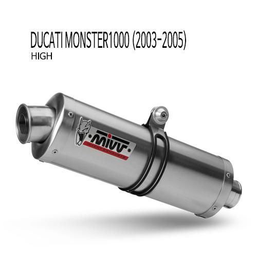 미브 몬스터1000 (high) 오벌 스틸 슬립온 머플러 두카티 (03-05)