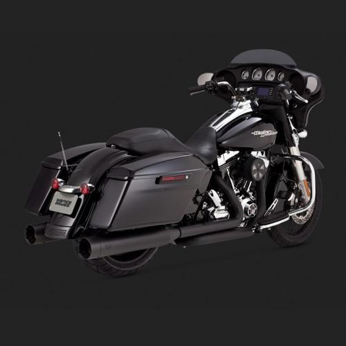 블랙색상 슬립온 95-16 반스 머플러 할리 투어링 OVERSIZED 450 TITAN