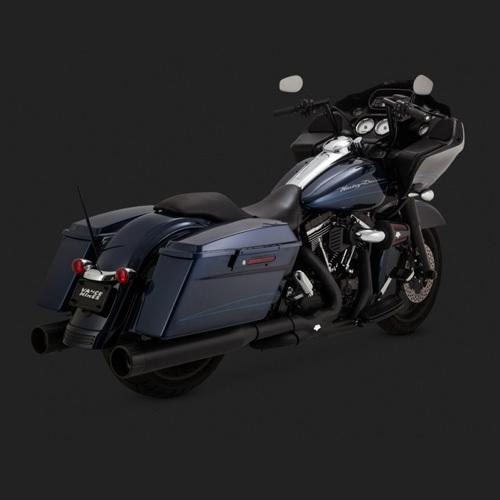 슬립온 블랙 (95-16) 할리 투어링 OVERSIZED 450 RAIDER 반스 머플러