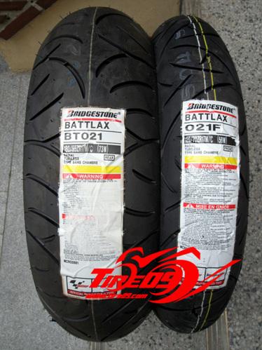 [브릿지스톤 오토바이 타이어]BT021 [120+180세트] 1만키로이상 마일리지