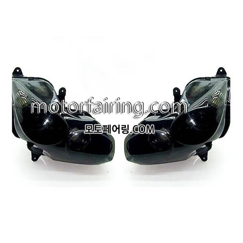 헤드라이트 가와사키 ZZR1400 ZX14RR 2006-2011 스모크 160