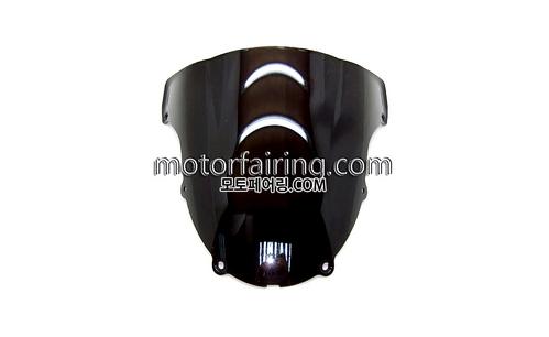 스크린/레이싱/이리듐/클리어/스모그/Kawasaki ZX-6R 03-04 Black 15