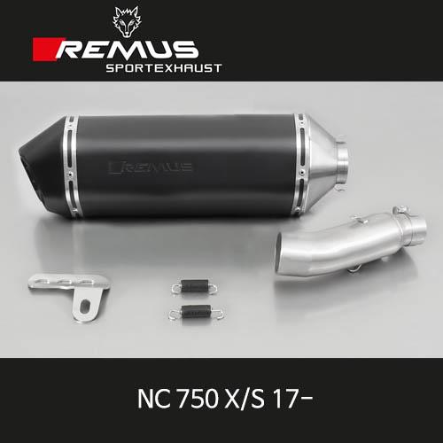 레무스 머플러 HONDA NC750 X/S 17- 스틸 블랙, 오카미 (with connecting tube) for HONDA NC 750 X/S, 54 mm, incl. EC homologation 슬립온