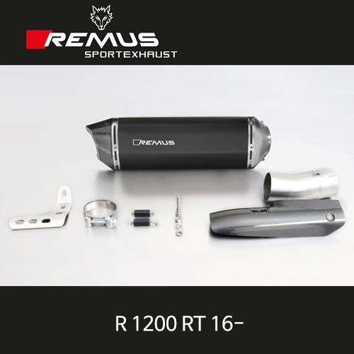 레무스 BMW R1200RT 16- 블랙호크 카본가드/스틸블랙 66mm EC 슬립온 아크라포빅
