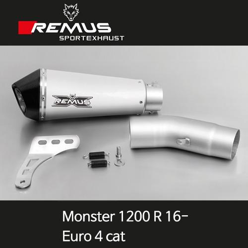 레무스 몬스터1200R 16- 년식 두카티 (Euro 4cat) 하이퍼콘 티탄 65mm EC 아크라포빅