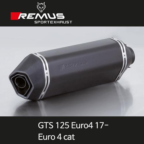 레무스 베스파 GTS125유로4(17-) 스포츠 no heat shield 65mm 스틸블랙 EC (Euro 4cat) 풀시스템 아크라포빅