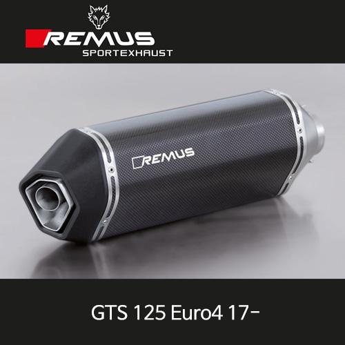 레무스 베스파 GTS125유로4 17- 스틸블랙 카본 no EC 스포츠 no cat. no heat shield 65mm 풀시스템 아크라포빅