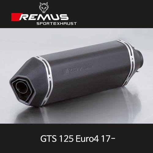레무스 베스파(17-)GTS125유로4 no heat shield 스포츠 65mm 스틸블랙 no cat/no EC  풀시스템 아크라포빅