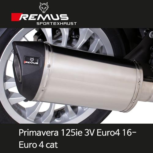 레무스 베스파 프리마베라125ie 3V 유로4(16-) Euro 4 cat. no heat shield 스테인레스 스쿠터 RSC 65mm (EC) 풀시스템 아크라포빅