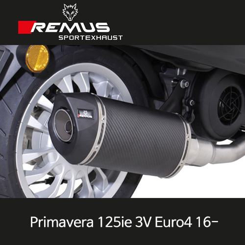 레무스 베스파 프리마베라125ie 3V 유로4 16- 풀시스템 스쿠터 RSC 카본 65mm (no EC, no cat, no heat shield) 아크라포빅