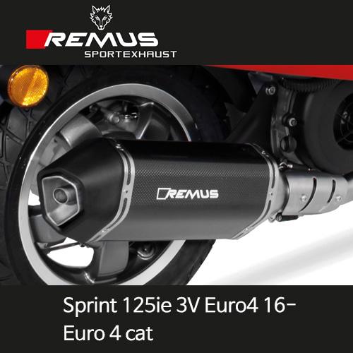 레무스 스프린트125ie 3V 유로4 베스파 16- 스포츠 Euro 4cat. 카본가드 65mm (EC) 풀시스템 아크라포빅