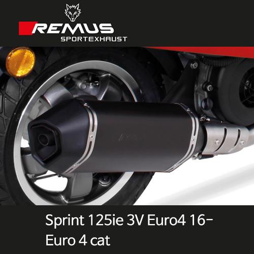 레무스 베스파 스프린트125ie 3V 유로4 16- 풀시스템 스틸블랙가드 스포츠 (Euro 4cat.) 65mm EC 아크라포빅