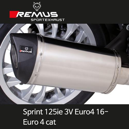레무스 베스파 스프린트125ie 3V 유로4(16-) Euro 4cat/no heat shield 스테인레스 (EC) 스쿠터 RSC 65mm 풀시스템 아크라포빅