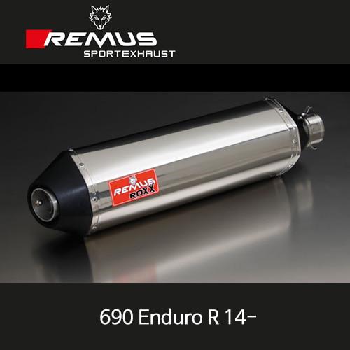 레무스 KTM 690엔듀로R 14-년식 ROXX no cat. 좌측용 스테인레스 RACE (no EEC) 54mm 슬립온 아크라포빅