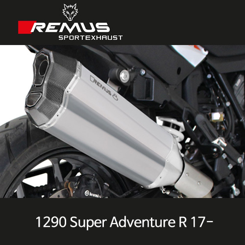 레무스 17-년식 KTM 1290슈퍼어드벤처R 레무스8 가드포함 스테인레스 무광 54mm EC 슬립온 아크라포빅