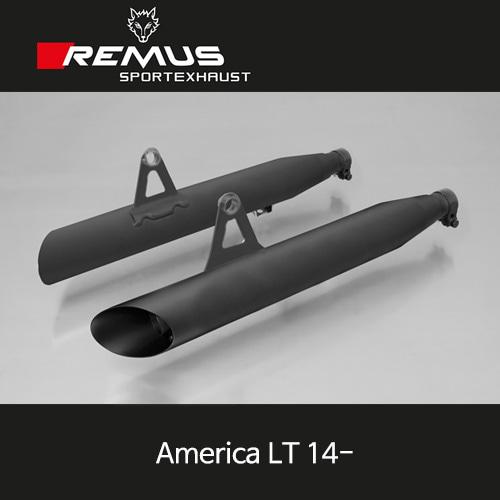 레무스 아메리카 LT 14- 트라이엄프 커스텀 Slash Cut 슬립온 좌/우 스틸블랙 EEC 45mm 아크라포빅
