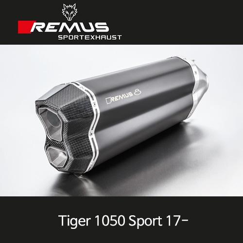 레무스 트라이엄프 타이거1050Sport 17- 년식 레무스8 슬립온 스틸블랙 65mm EC 아크라포빅