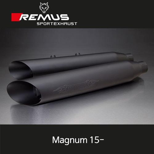 레무스 빅토리 매그넘 15-년식 커스텀 Slash cut 스틸블랙 EEC 슬립온 좌/우 Ø102mm (4인치) 아크라포빅
