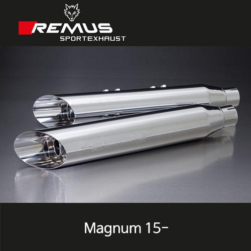 레무스 매그넘 15-년식 빅토리 좌/우 Ø102mm (4인치) 크롬 EEC 커스텀 Slash cut 슬립온 아크라포빅